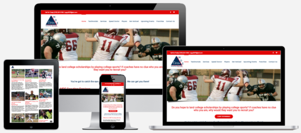 Athlethic Website Design Albany, NY Capital District Digital