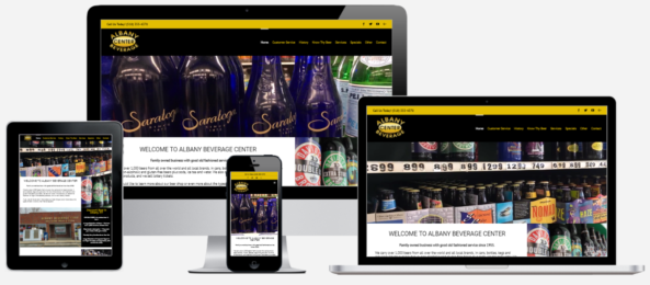 Albany Beverage Website Design Albany, NY Capital District Digital