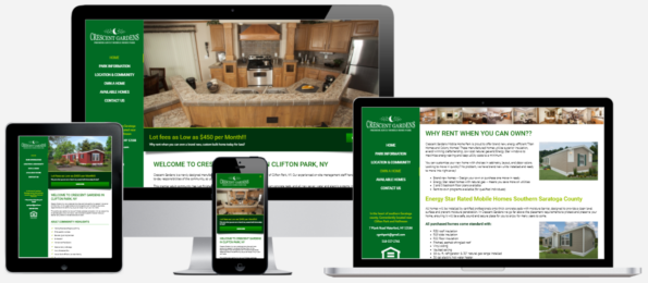 Mobile Home Website Design Albany, NY Capital District Digital