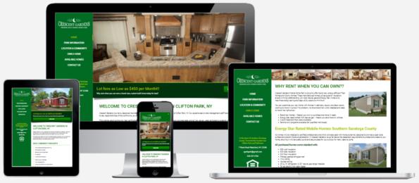 Crescent Gardens Website Design