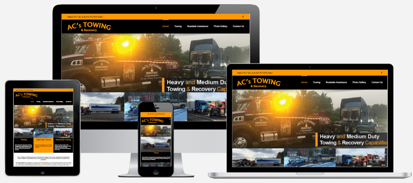 Towing Company Website Design Albany, NY Capital District Digital