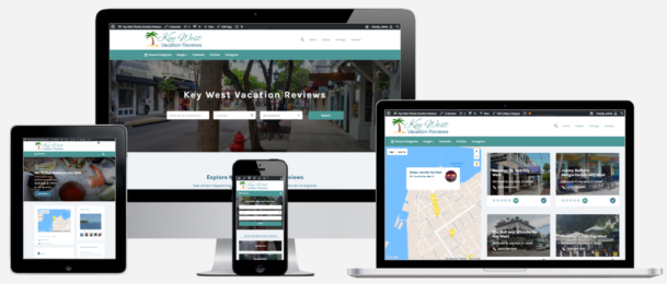 Key West Vacation Reviews Website Design - Capital District Digital Albany, NY