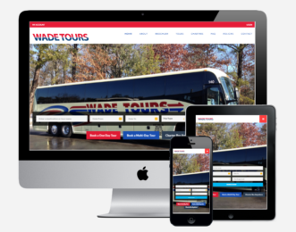 Wade Tours website design Capital District Digital
