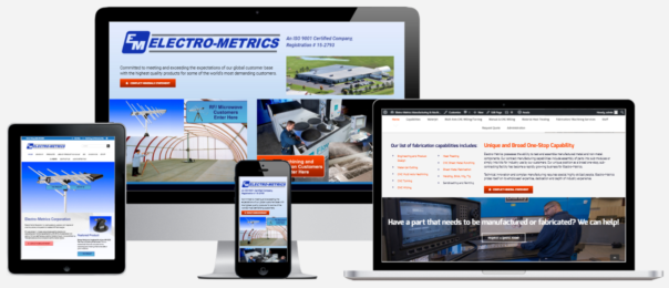 Electro-Metrics Website Design Capital District Digital