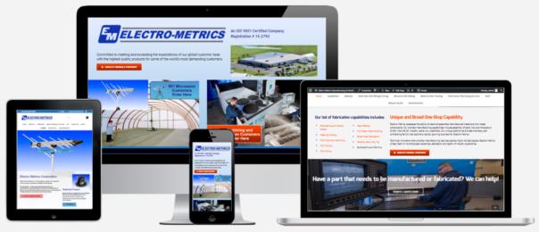 Electro-Metrics Website Design Capital District Digital