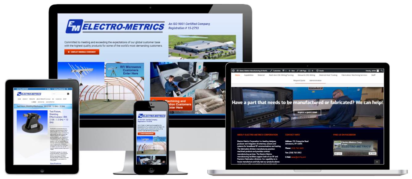 Electro-Metrics WordPress Website Design Albany, NY - Capital District Digital