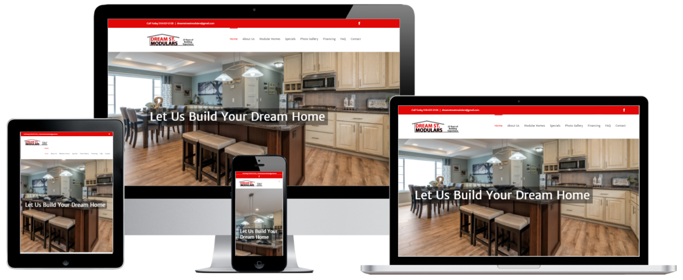 Modular Homes WordPress Website Design Albany, NY - Capital District Digital