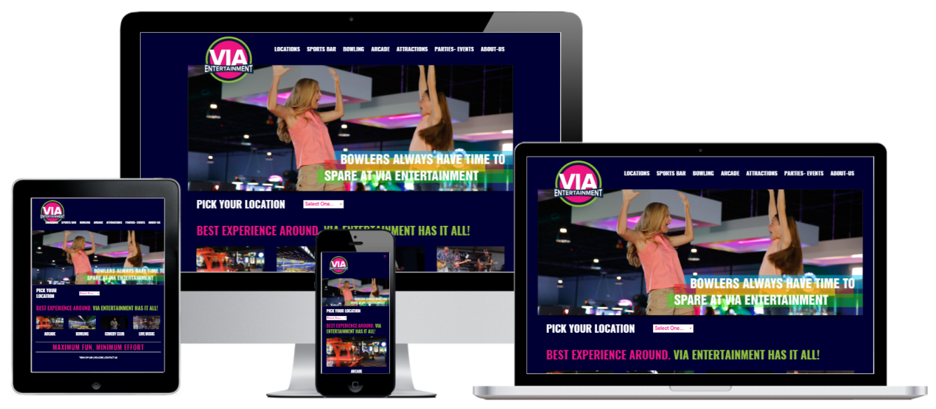 VIA Entertainment WordPress Website Design Albany, NY - Capital District Digital