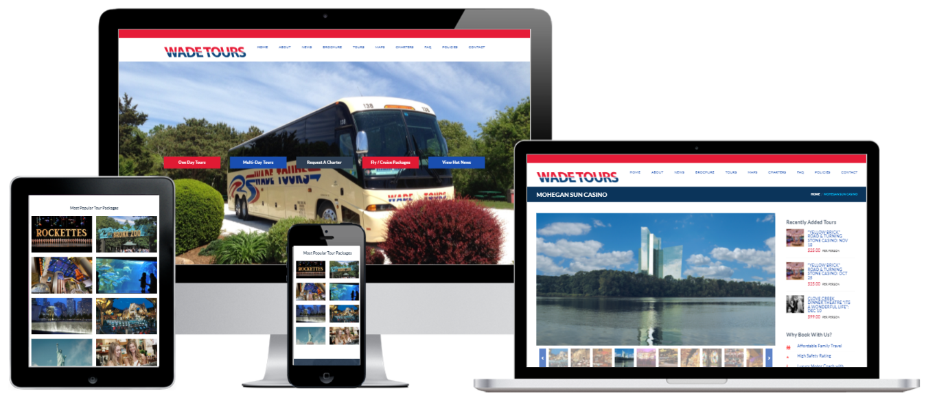 Wade Tours WordPress E-Commerce Website Design Albany, NY - Capital District Digital