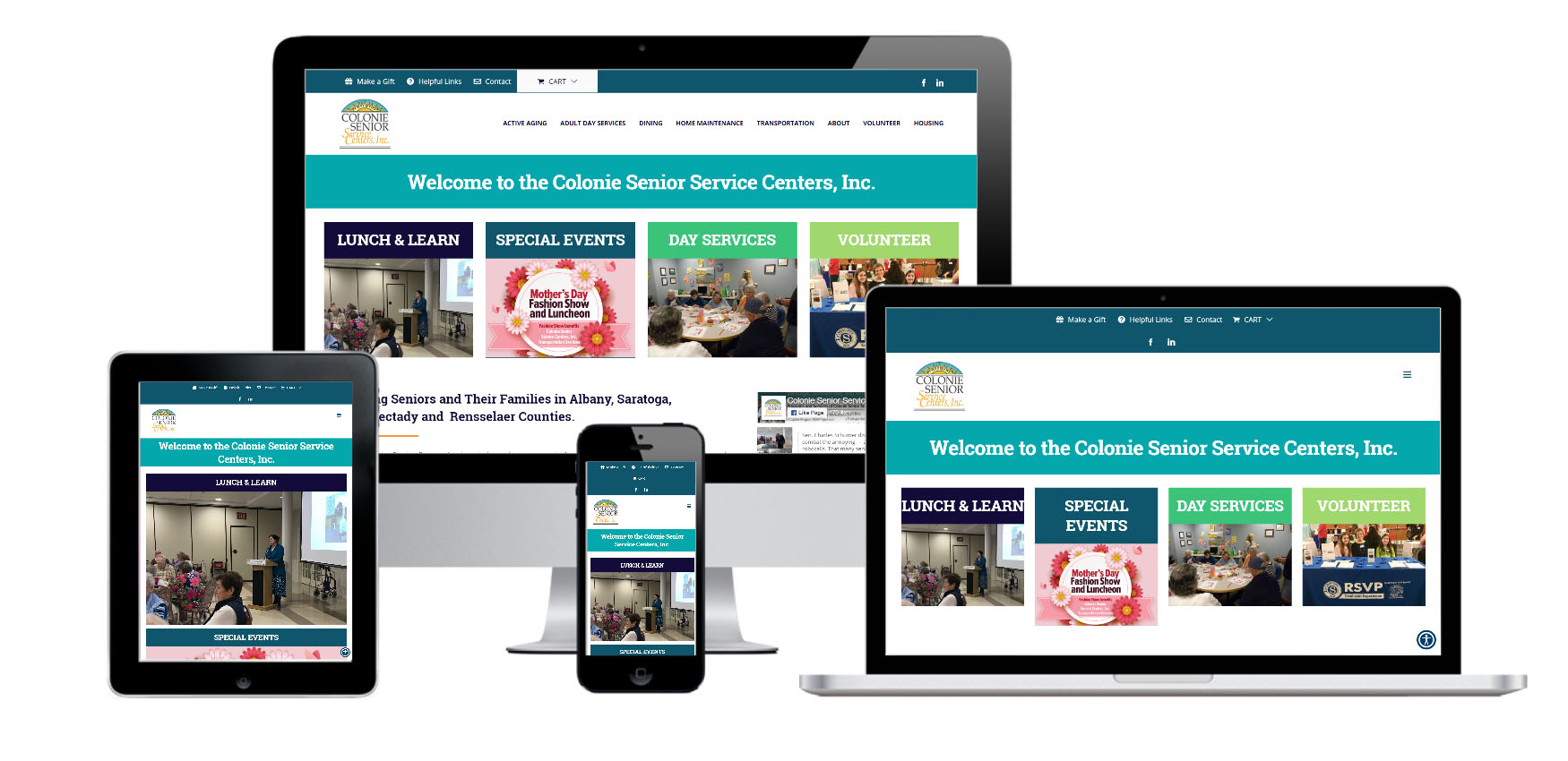 Senior Service Center Website Design Albany, NY