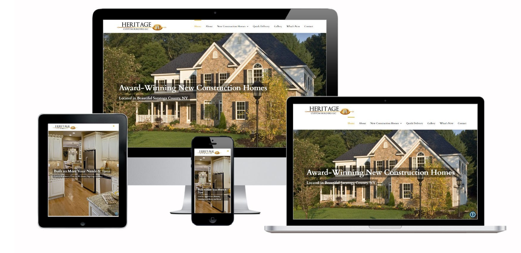 Custom Home Builders Website Design Albany, NY