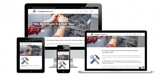 Appliance Repair Website Design Albany, NY